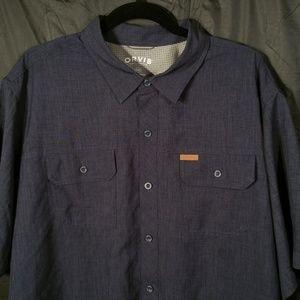ORVIS Dark Denim Like Button Shirt